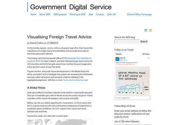 Visualising Foreign Travel Advice | GDS