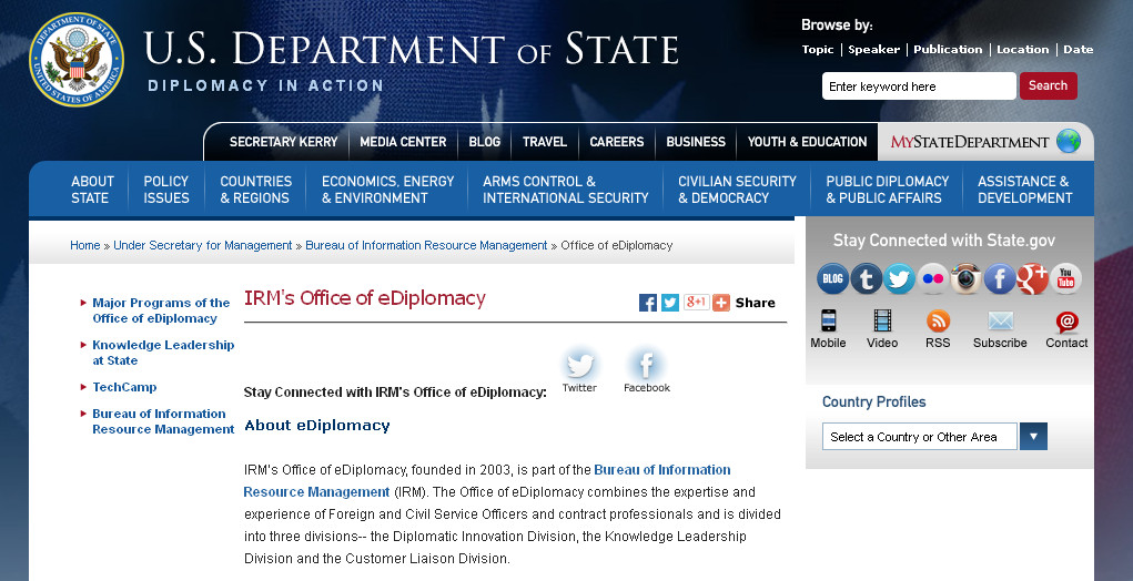 Knowledge Management for eDiplomacy Resources ……