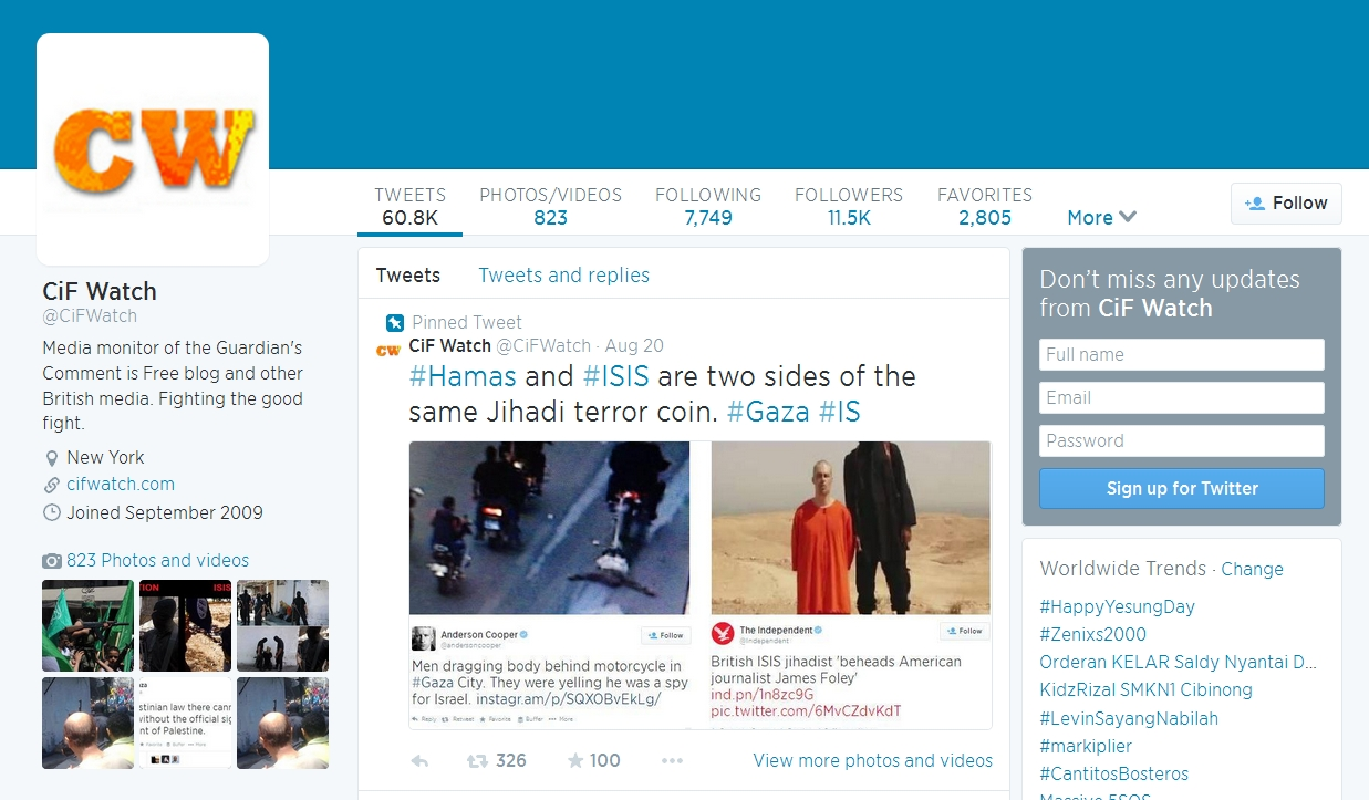 """BIDD Theme this week"" 4/8 ***Israel Does About-Face Over Hamas-ISIS Tweet**"