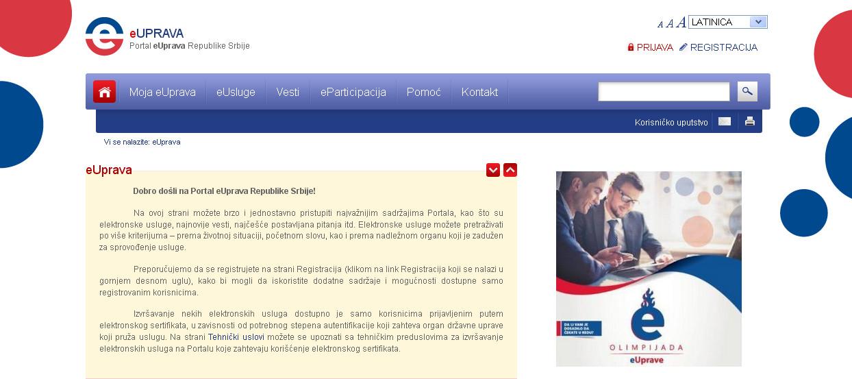 Povećanje broja usluga na Portalu eUprave Republike Srbije