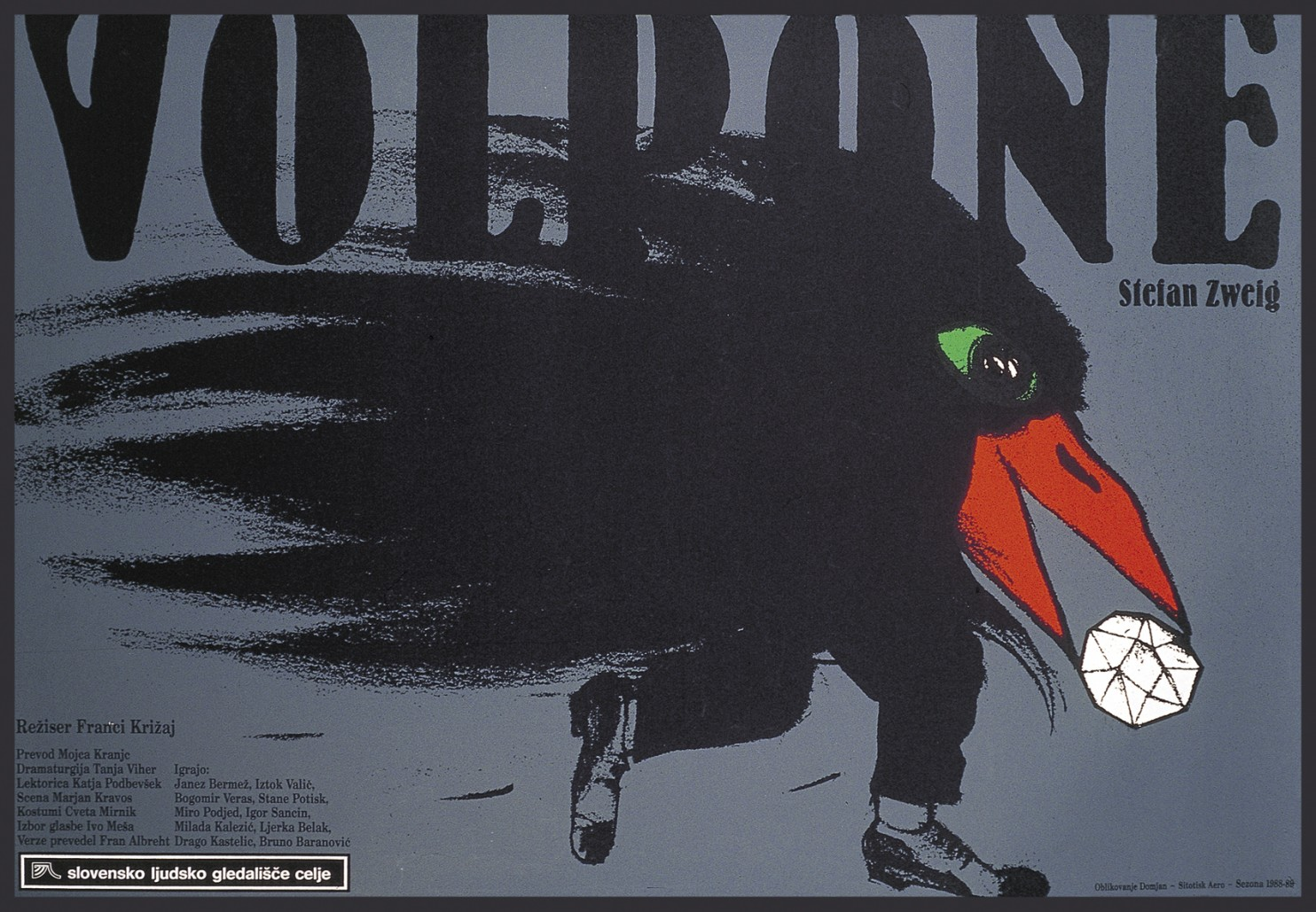 At the embassy of the Republic of Slovenia, an exhibit of theater posters as high art