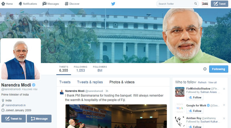 PM Narendra Modi crosses 8 million Twitter followers
