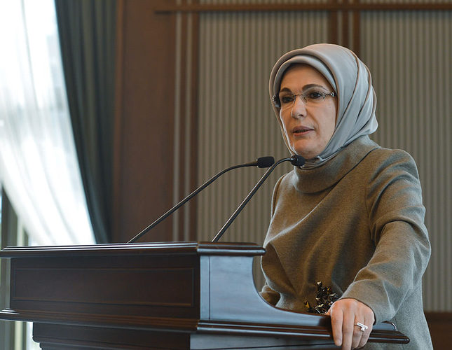 In Turkey First lady launches women's diplomacy bid