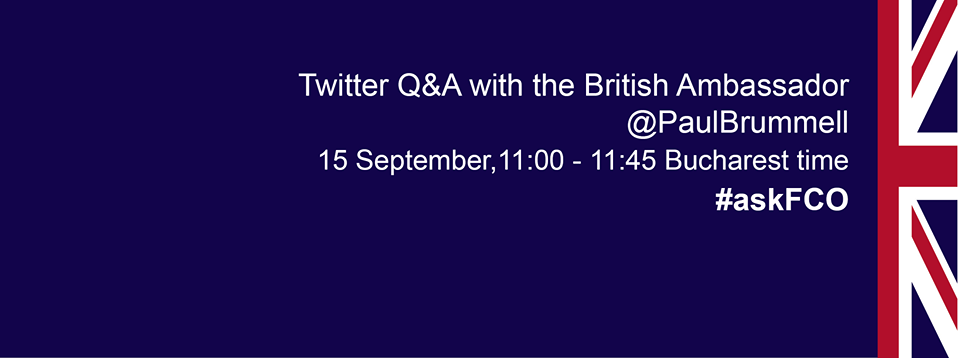 Live chat with the British Ambassador