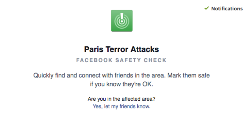 BIDD Theme Facebook's Safety Check tool lets those in Paris report they're okay