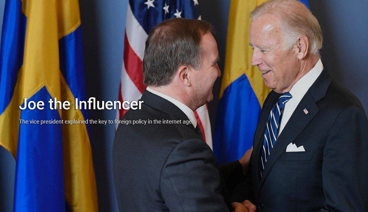 The vice president explained the key to foreign policy in the internet age