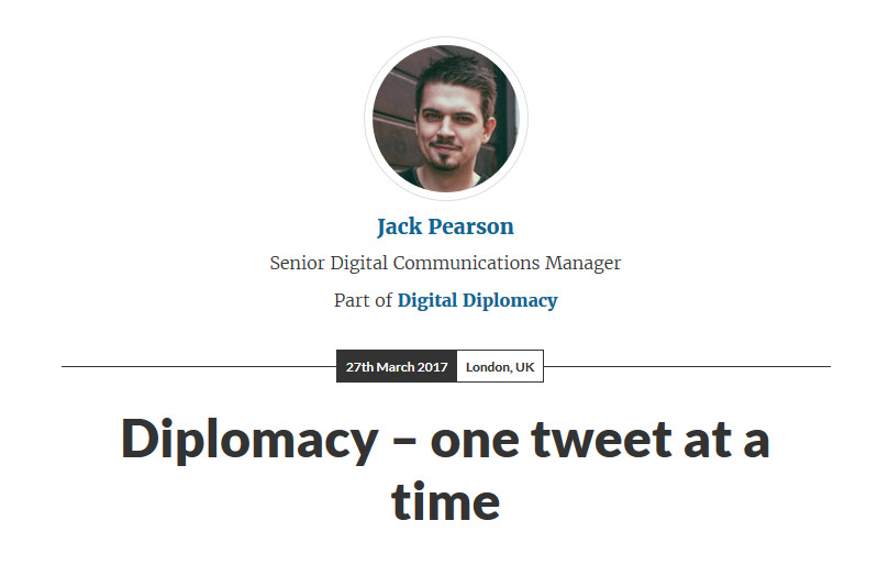 Diplomacy – one tweet at a time