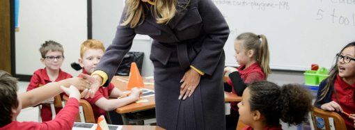 The first lady watched school kids coloring in Tulsa. The Turks saw links to terrorism.