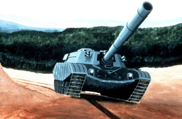 """An artist's concept of the T-80 courtesy of """"Soviet Military Power"""" Magazine in 1982 [1593×1049]"""